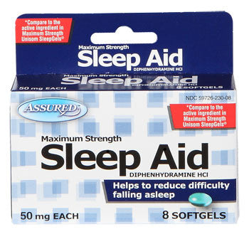 Assured Maximum Strength Sleep Aid, 8-ct. Pack