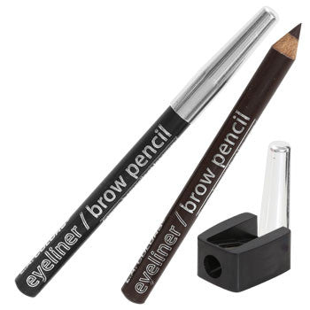 L.A. Colors Expressions Eyeliner & Brow Pencil with Sharpener, 3-ct. Pack