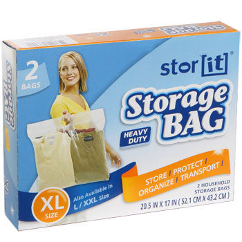 Stor It Extra-Large Plastic Storage Bags with Handles, 2-ct. Box