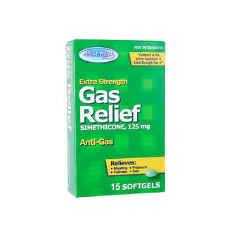 Assured Extra-Strength Gas Relief Softgels, 15 ct.
