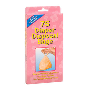 Disposable Diaper Bags, 75-ct. Box
