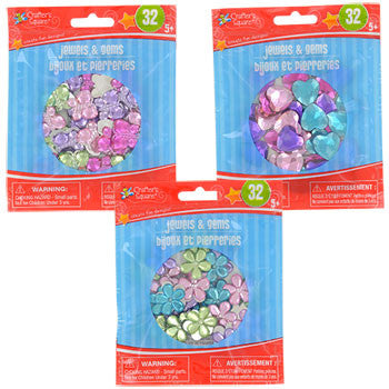 Crafter's Square Assorted Jewels & Gems, 32-ct. Pack