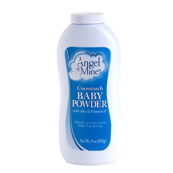 Angel of Mine Cornstarch Baby Powder, 9 oz.