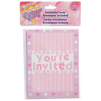 Princess Party Invitations with Envelopes, 8-ct. Pack