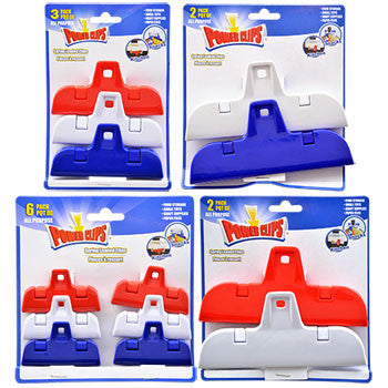 Assorted Plastic Power Clips (Set of 4)