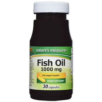 Nature's Measure Fish Oil Capsules, 30-ct. Bottle