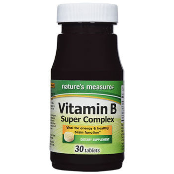 Nature's Measure Vitamin B Super Complex Tablets, 30-ct. Bottle
