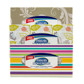 The Home Store 2-Ply Facial Tissues, 175-ct. Box
