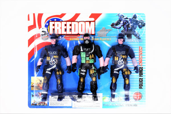 Freedom Fighters 3-Pack Action Hero Set