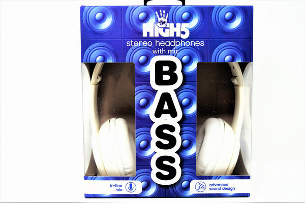 High5 Bass Stereo Headphones With Mic