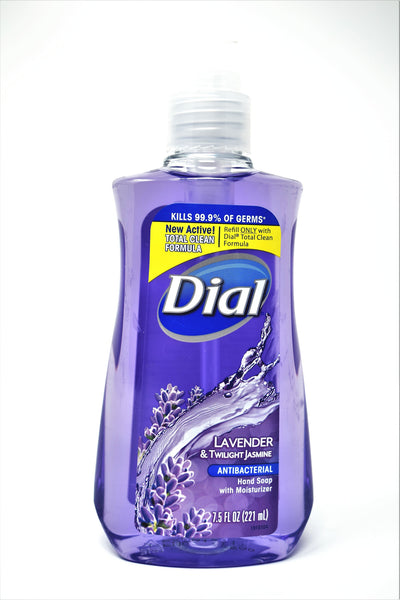 Dial Lavender & Twilight Jasmine Antibacterial Hand Soap With Moisturizer, 7.5 oz