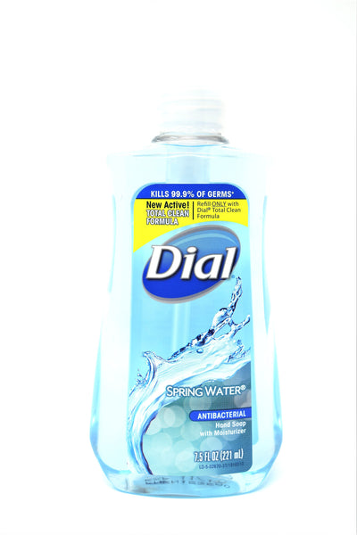 Dial Spring Water Antibacterial Hand Soap With Moisturizer, 7.5 oz.
