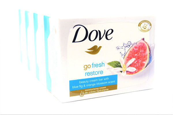 Dove Go Fresh Restore Beauty Cream Bar With Blue Fig & Orange Blossom Scent, 4-count