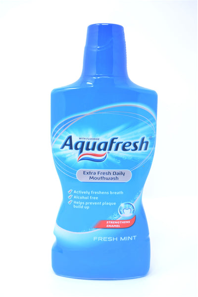 Aquafresh Fresh Mint Extra Fresh Daily Mouthwash,