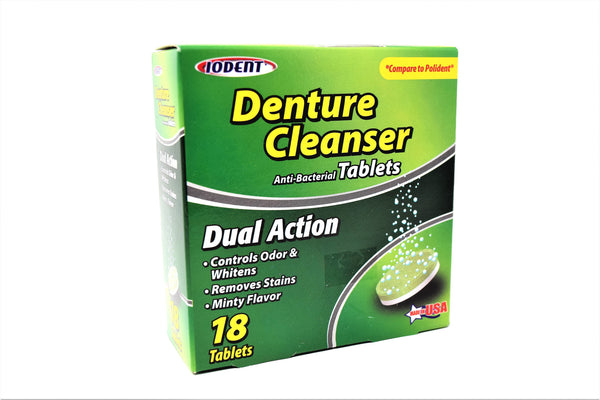 Iodent Denture Cleanser Antibacterial Tablets, 18 ct.