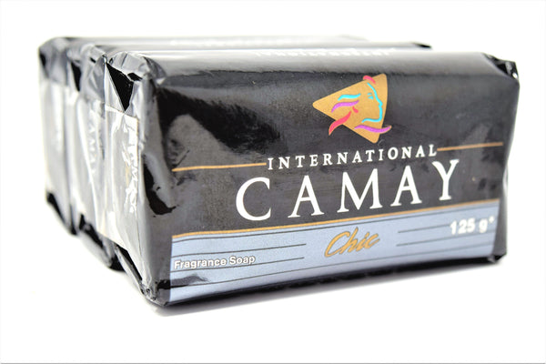 Camay International Chic Fragrance Bar Soap, 3-count