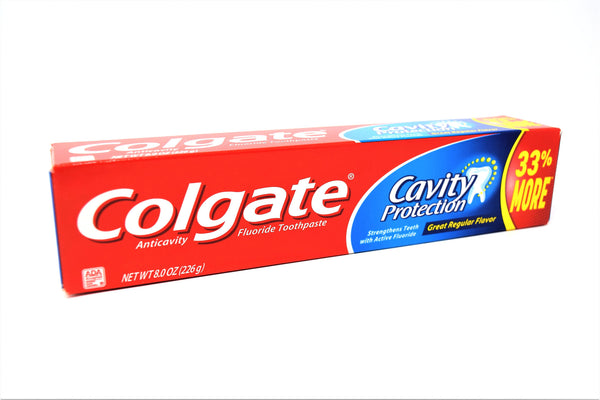 Colgate Cavity Protection Great Regular Flavor Fluoride Toothpaste, 8 oz.