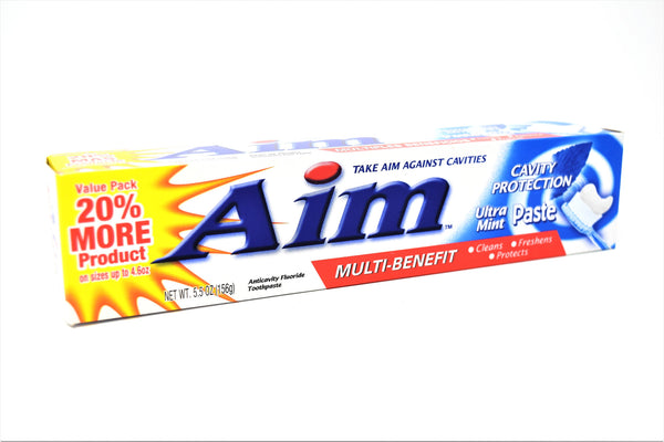 Aim Cavity Protection Ultra Mint Multi Benefit Toothpaste, 5.5 oz.