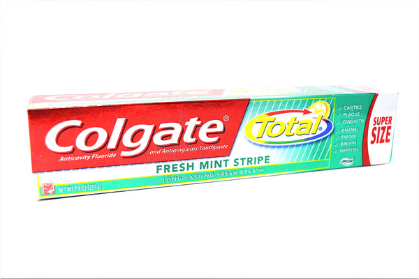 Colgate Total Fresh Mint Stripe Anticavity Fluoride Toothpaste, 7.8 oz.
