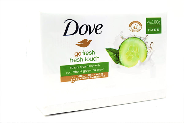 Dove Go Fresh Fresh Touch Beauty Cream Bar Soap With Cucumber and Green Tea Scent, 4-count