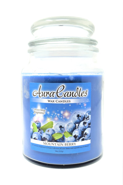 Aura Candles Wax Candle Mountain Berry, 18 oz.