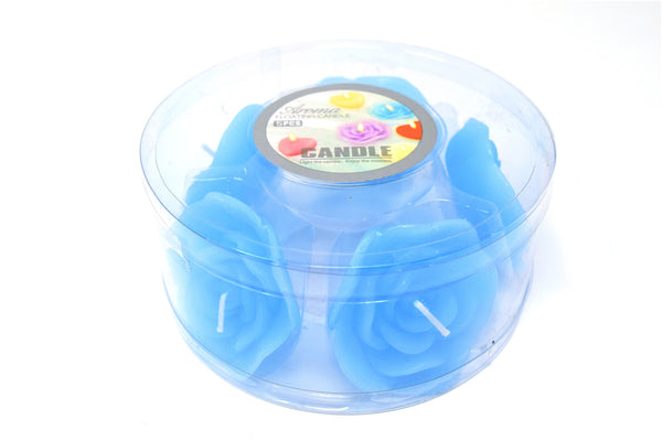 Aroma Floating Rose Shaped Candles, 5 ct.