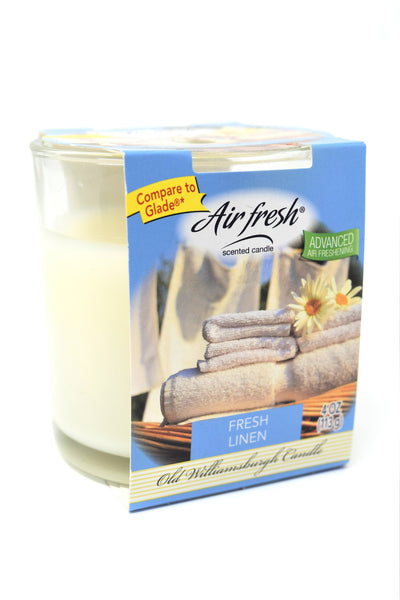 Air Fresh Scented Candle Fresh Linen, 4 oz.