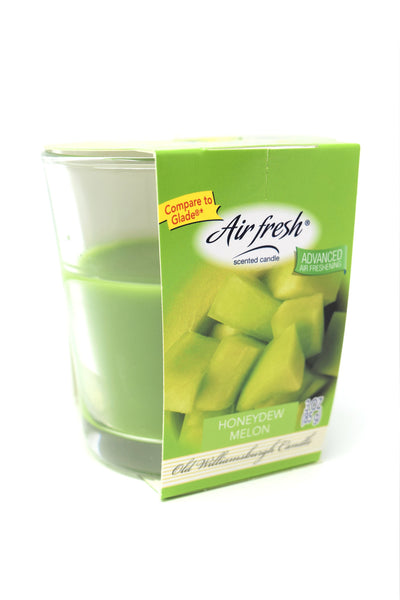 Air Fresh Scented Candle Honeydew Melon, 3 oz.