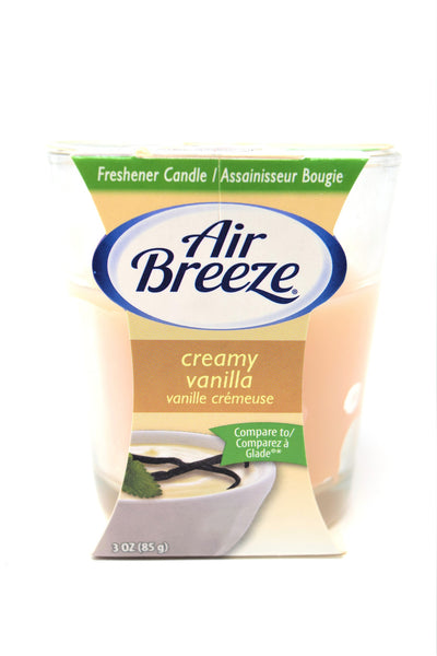 Air Breeze Creamy Vanilla Scented Candle, 3 oz.