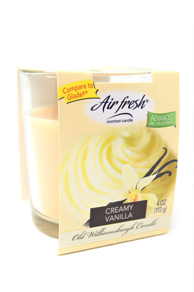 Air Fresh Scented Candle Creamy Vanilla, 4 oz.