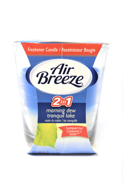 Air Breeze 2-in-1 Scented Candle Morning Dew & Tranquil Lake, 3 oz.