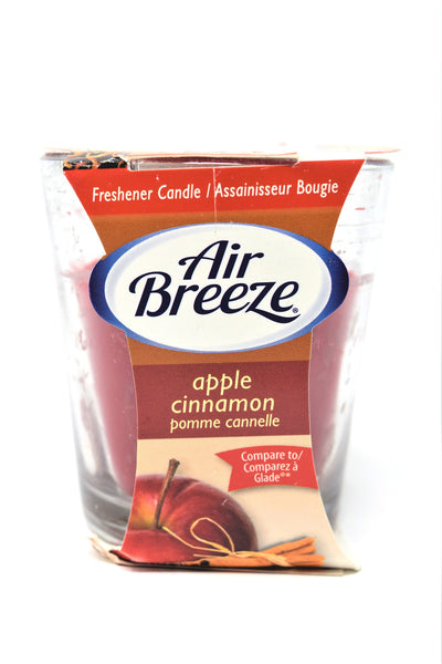 Air Breeze Apple Cinnamon Scented Candle, 3 oz.
