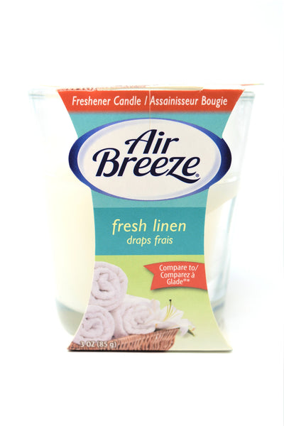 Air Breeze Fresh Linen Scented Candle, 3 oz.