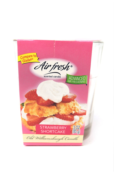 Air Fresh Scented Candle Strawberry Shortcake, 3 oz.
