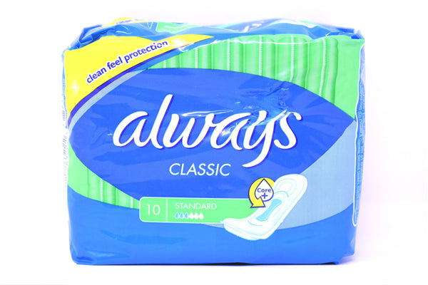 Always Classic Standard Pads, 10 ct.