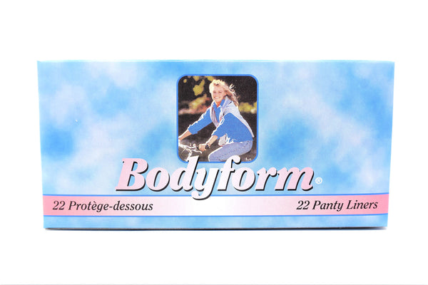 Body Form Panty Liners, 22 ct.