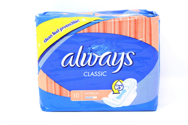 Always Classic Normal Pads, 10 ct.
