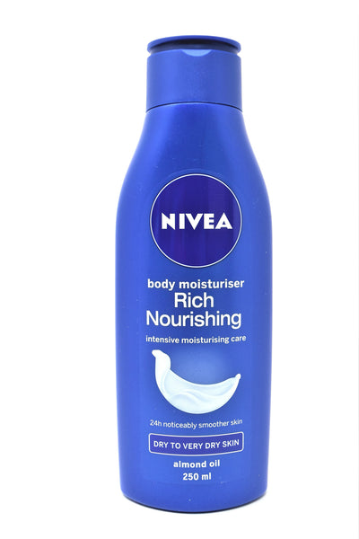 Nivea Body Moisturizer Rich Nourishing Lotion, 250 mL