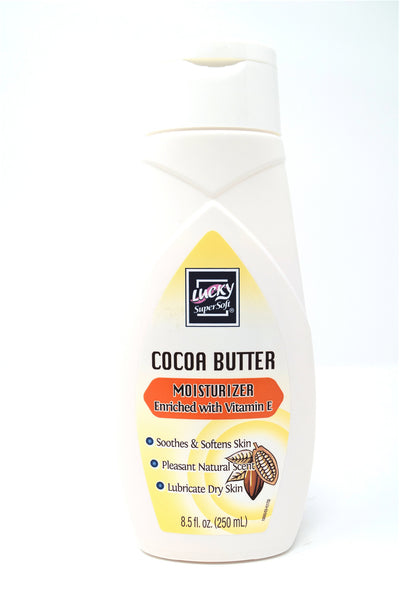 Lucky Cocoa Butter Moisturizer Enriched with Vitamin E, 8.5 oz.