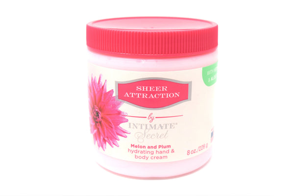 Intimate Secret Sheer Attraction Melon & Plum, 8 oz.