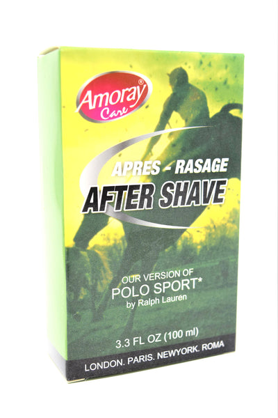 Amoray Care After Shave Polo Sport Version, 3.3 Fl. Oz.