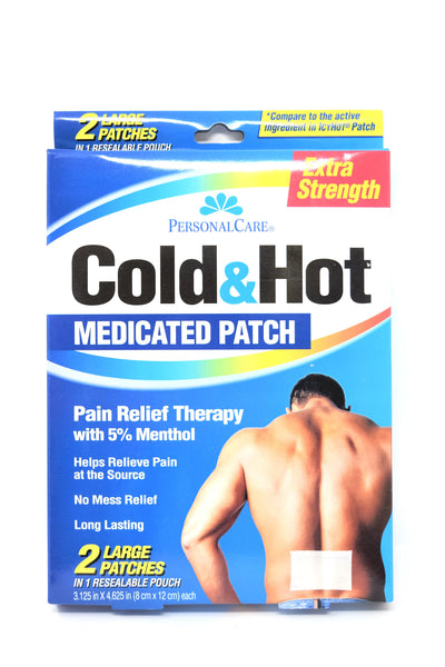 Personal Care Cold & Hot Extra Strength Medicated Patches, 2 ct.