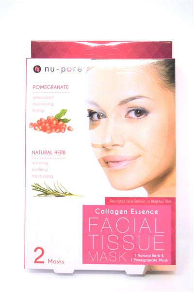 Nu-Pore Collagen Essence Facial Tissue Mask, 2 Masks
