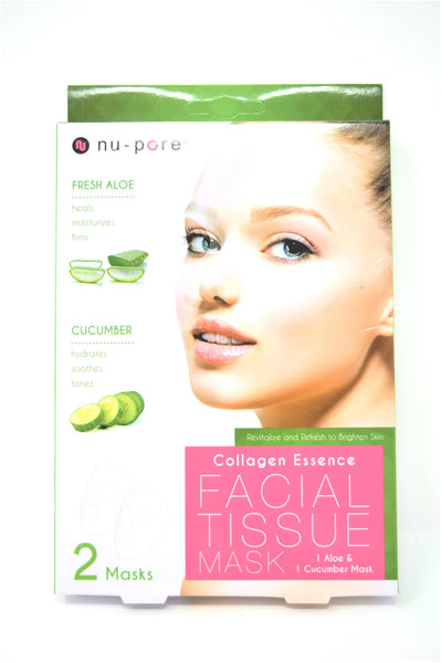 Nu-Pore Two Pack Collagen Essence Facial Tissue Mask