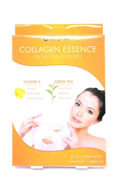 Nu-Pore Collagen Essence Facial Tissue Masks, 2 Pack