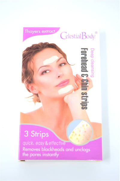 Celestial Body Deep Cleansing Forehead & Chin Strips, 3 Strips