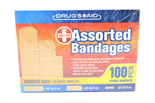 Drug's Aid Assorted Bandages, 100 ct.