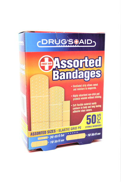 Drug's Aid Assorted Bandages, 50 ct.