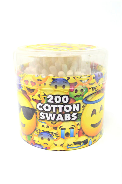 Emoji Cotton Swabs, 200 Count