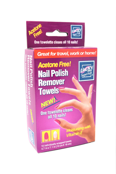 Lucky Nail Polish Remover Towels, 10 Ct.